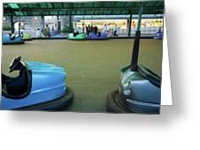 Bumper Cars At Monte Igueldo Amusement Greeting Card