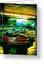 Bumper Cars Greeting Card by Colleen Kammerer