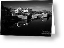 bunbeg house guesthouse in bunbeg harbour and clady river gweedore bay county Donegal Republic of Ireland Greeting Card
