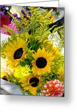 Bunch Of Sunflowers Greeting Card