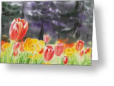 Bunch Of Tulips I Greeting Card