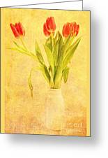 Bunch Of Tulips Greeting Card