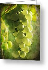 Bunch Of Yellow Grapes Greeting Card