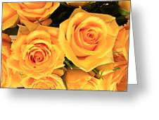 Bunch Of Yellow Roses Greeting Card