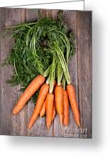 Bunched Carrots Greeting Card by Jane Rix