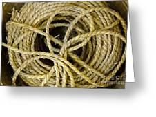 Bundle Of Old Straw Rope Greeting Card