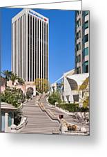Bunker Hill Steps Los Angeles Greeting Card