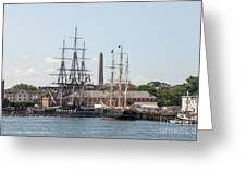 Bunker Hill With Ships Greeting Card