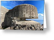 Bunker Over The Sea Greeting Card