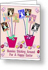 Bunnies Sticking Around For Easter Greeting Card