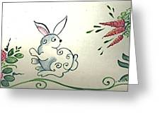 Bunny In The Carrot Patch Greeting Card