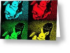 Bunny Pop Art Greeting Card