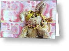 Bunny Rose Greeting Card