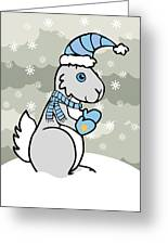 Bunny Winter Greeting Card by Christy Beckwith