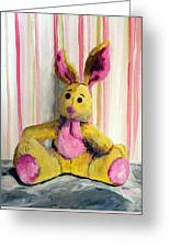 Bunny With Pink Ears Greeting Card