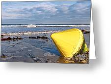 Buoy At Low Tide Greeting Card