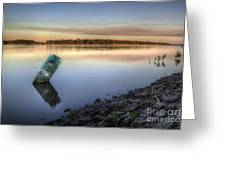 Buoy On The Bank Greeting Card