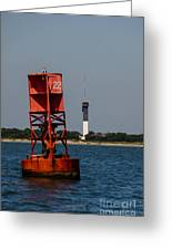 Buoy To Lighthouse Greeting Card