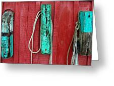 Buoys At Rockport Motif Number One Greeting Card