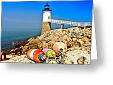 Buoys At The Headlight Greeting Card