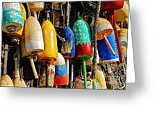 Buoys From Russell's Lobsters Greeting Card