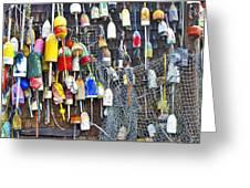 Buoys On Wall - Cape Neddick - Maine Greeting Card