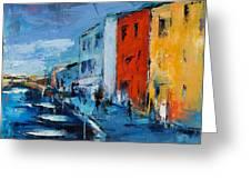 Burano Canal - Venice Greeting Card