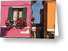 Burano Homes Greeting Card