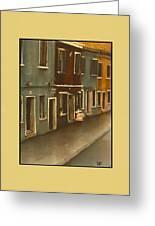 Burano Italy   No 20 Greeting Card