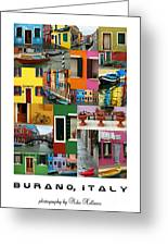 Burano Italy Poster Greeting Card