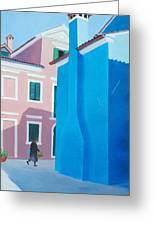 Burano Venice Street Scene Greeting Card
