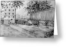 Burfordsville Bridge And Bollinger Mill Greeting Card