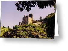 Burg Katze Castle On The Rhine Greeting Card