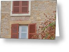 Rust Coloured Shutters Greeting Card