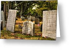 Burial Hill Cemetery-close Up Greeting Card