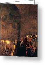 Burial Of St Lucy Greeting Card by Caravaggio