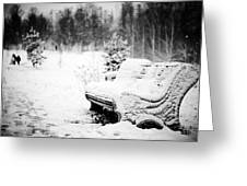 Buried In Snow Greeting Card