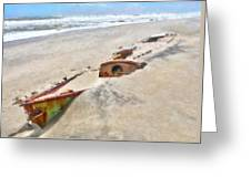 Buried Treasure - Shipwreck On The Outer Banks I Greeting Card