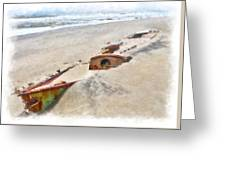 Buried Treasure - Shipwreck On The Outer Banks II Greeting Card by Dan Carmichael