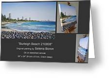 Burleigh Beach 210808 Greeting Card