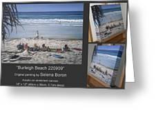 Burleigh Beach 220909 Greeting Card by Selena Boron