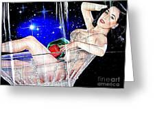 Burlesque Queen Dita Greeting Card