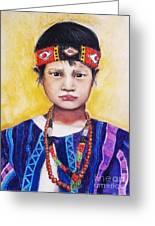 Burma Girl Greeting Card