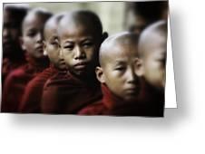 Burma Monks 2 Greeting Card