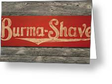 Burma-shave Sign Greeting Card