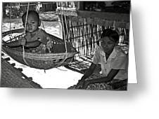 Burmese Mother And Son Greeting Card by RicardMN Photography