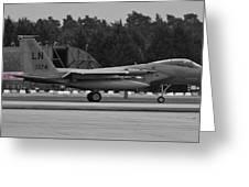 Burnin' F-15c Eagle  Greeting Card