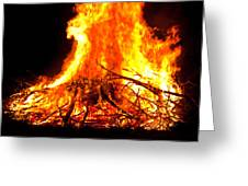 Burning Branches Greeting Card