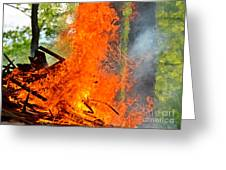 Burning Brush Greeting Card