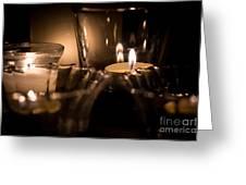 Burning Candles Greeting Card